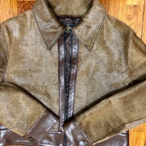 Leather jacket. Fendi.